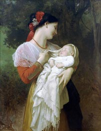 Maternal Admiration, 1869 by Bouguereau | Painting Reproduction