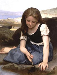 The Crab, 1869 by Bouguereau | Painting Reproduction