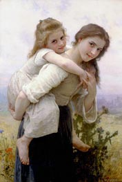 Not too Much to Carry | Bouguereau | Gemälde Reproduktion