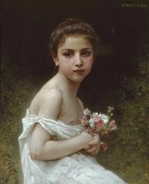 Little Girl with a Bouquet | Bouguereau | Painting Reproduction