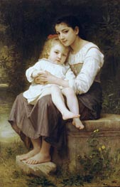 Big Sis' | Bouguereau | Gemälde Reproduktion