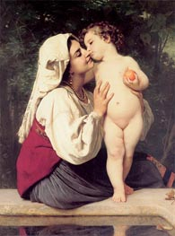 The Kiss | Bouguereau | Painting Reproduction