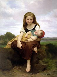 The Elder Sister, 1869 by Bouguereau | Painting Reproduction