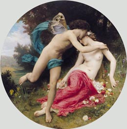Flora and Zephyr, 1875 von Bouguereau | Gemälde-Reproduktion