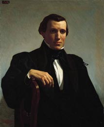 Portrait of Monsieur M, 1850 von Bouguereau | Gemälde-Reproduktion
