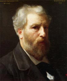 Self Portrait Presented to M. Sage, 1886 von Bouguereau | Gemälde-Reproduktion