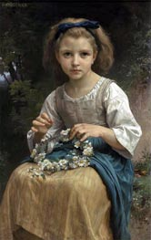 Child Braiding a Crown, 1874 von Bouguereau | Gemälde-Reproduktion