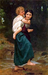 The Crossing of the Ford | Bouguereau | Gemälde Reproduktion