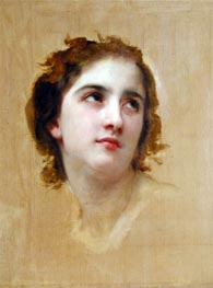 Sketch of a Young Woman | Bouguereau | Painting Reproduction