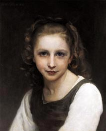 Portrait of a Young Girl | Bouguereau | Painting Reproduction