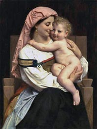 Woman of Cervara and Her Child, 1861 von Bouguereau | Gemälde-Reproduktion