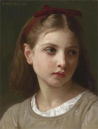 A Young Girl, 1886 von Bouguereau | Gemälde-Reproduktion