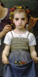 The Jewel of the Fields (Detail), 1884 by Bouguereau | Painting Reproduction
