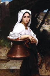 Italian Girl Drawing Water, 1871 von Bouguereau | Gemälde-Reproduktion