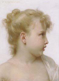 Head of a Little Girl, 1888 von Bouguereau | Gemälde-Reproduktion