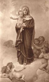 Our Lady of the Angels, 1889 by Bouguereau | Painting Reproduction