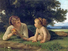 Temptation, Undated by Bouguereau | Painting Reproduction