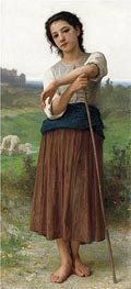 Young Shepherdess, 1887 von Bouguereau | Gemälde-Reproduktion