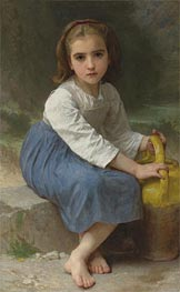 Girl with Pitcher, 1885 von Bouguereau | Gemälde-Reproduktion