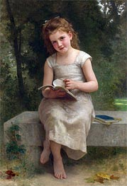 The Reading, 1895 by Bouguereau | Painting Reproduction