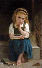 Difficult Lesson, 1880 by Bouguereau | Painting Reproduction