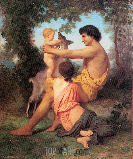 Idyll: Family from Antiquity, 1860 | Bouguereau | Gemälde Reproduktion