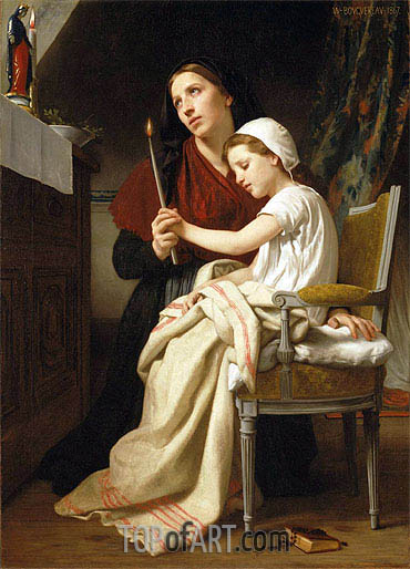 The Thank Offering, 1867 | Bouguereau | Gemälde Reproduktion