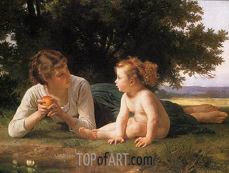 Temptation, 1880 | Bouguereau | Painting Reproduction