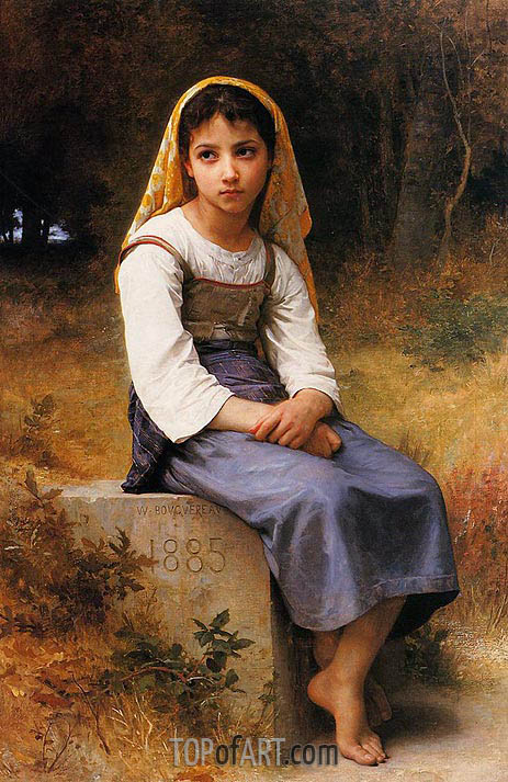 Meditation, 1885 | Bouguereau | Painting Reproduction