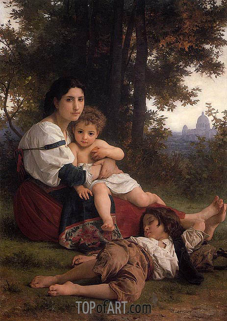 Rest, 1879 | Bouguereau | Painting Reproduction