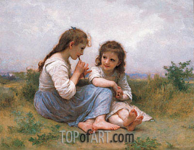 Childhood Idyll, 1900 | Bouguereau | Painting Reproduction