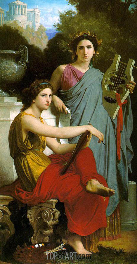 Art and Literature, 1867 | Bouguereau | Painting Reproduction