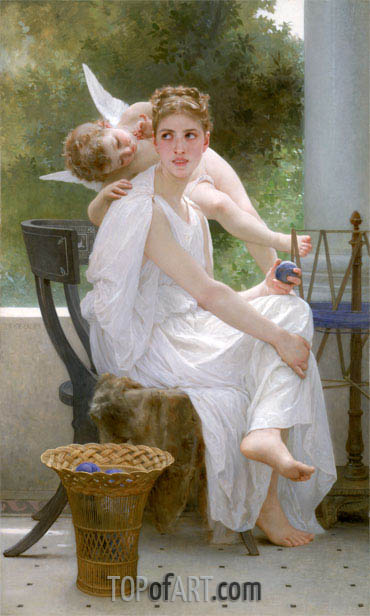 Work Interrupted (Penelope), 1891 | Bouguereau | Painting Reproduction