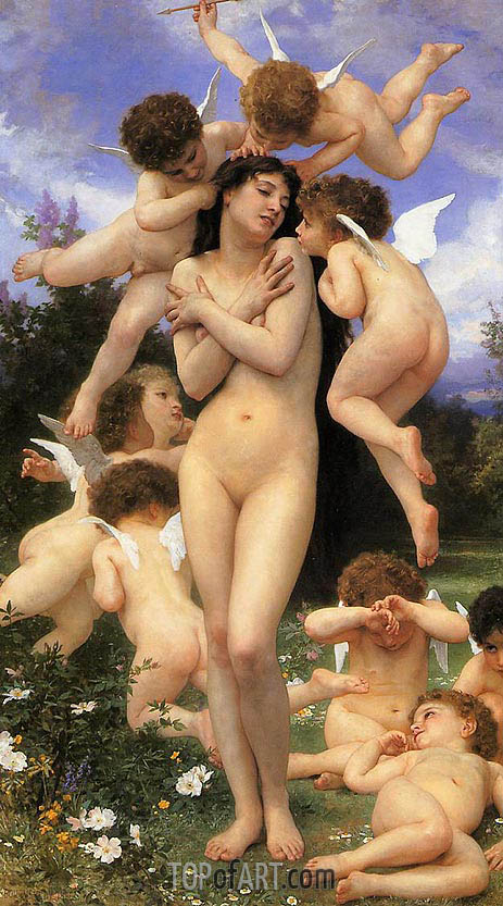 The Return of Spring, 1886 | Bouguereau | Painting Reproduction