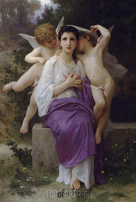 The Heart's Awakening, 1892 | Bouguereau | Painting Reproduction