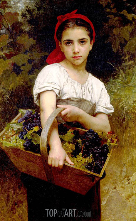The Grape Picker, 1875 | Bouguereau | Painting Reproduction