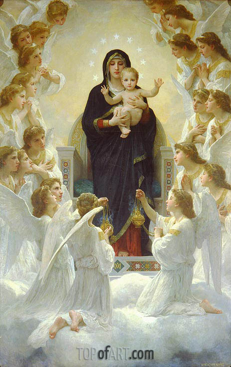 The Virgin with Angels, 1900 | Bouguereau | Painting Reproduction