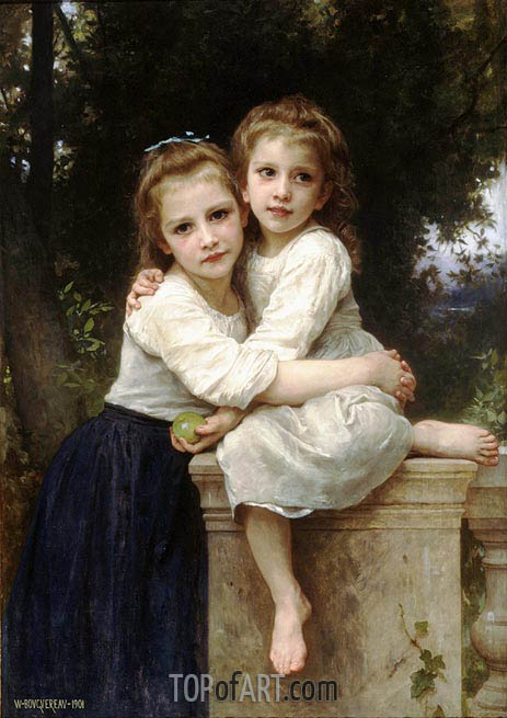 Two Sisters, 1901 | Bouguereau | Painting Reproduction