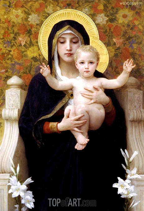 The Virgin of the Lilies, 1899 | Bouguereau | Painting Reproduction