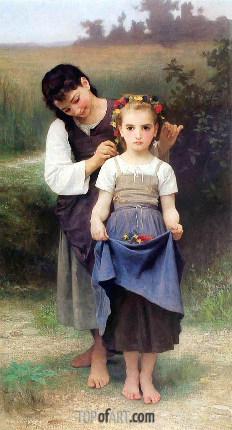 The Jewel of the Fields, 1884 | Bouguereau | Painting Reproduction