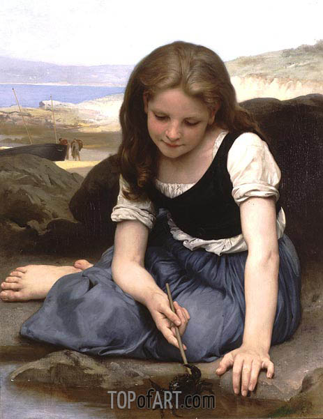 The Crab, 1869 | Bouguereau | Gemälde Reproduktion