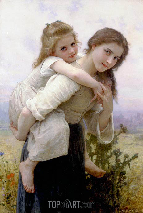 Not too Much to Carry, 1895 | Bouguereau | Gemälde Reproduktion
