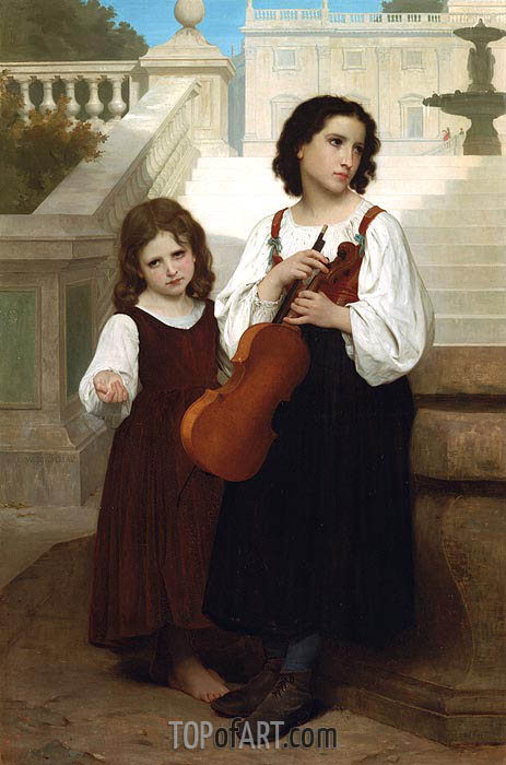 Far from Home, 1867 | Bouguereau | Painting Reproduction