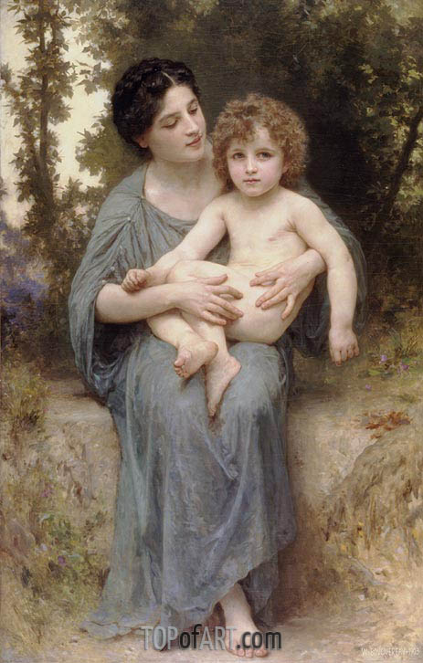 Little Brother, 1902 | Bouguereau | Painting Reproduction