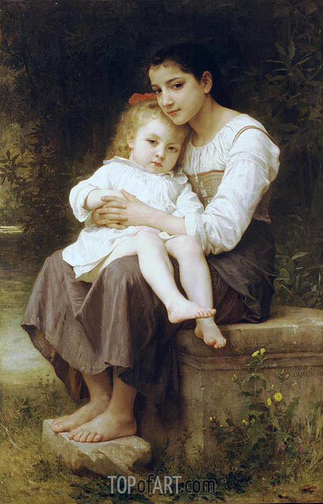 Big Sis', 1886 | Bouguereau | Painting Reproduction