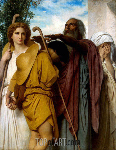 Tobias Receives his Father's Blessing, 1860 | Bouguereau | Painting Reproduction