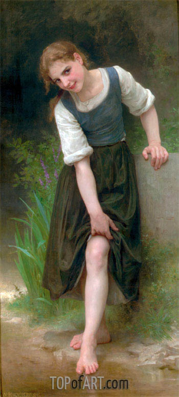 The Ford, 1895 | Bouguereau | Painting Reproduction