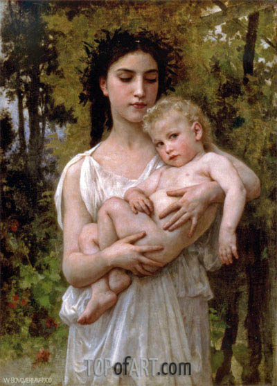 Little Brother, 1900 | Bouguereau | Painting Reproduction