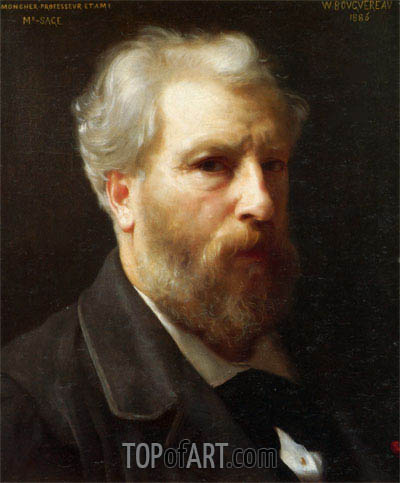 Self Portrait Presented to M. Sage, 1886 | Bouguereau | Painting Reproduction