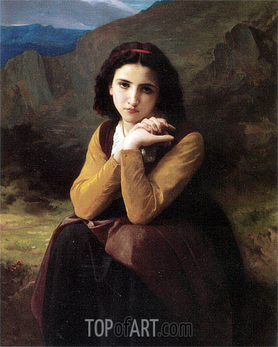 Mignon, 1869 | Bouguereau | Painting Reproduction
